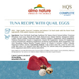 Almo Nature HQS Complete Cat Grain Free Tuna with Quail Egg Canned Cat Food