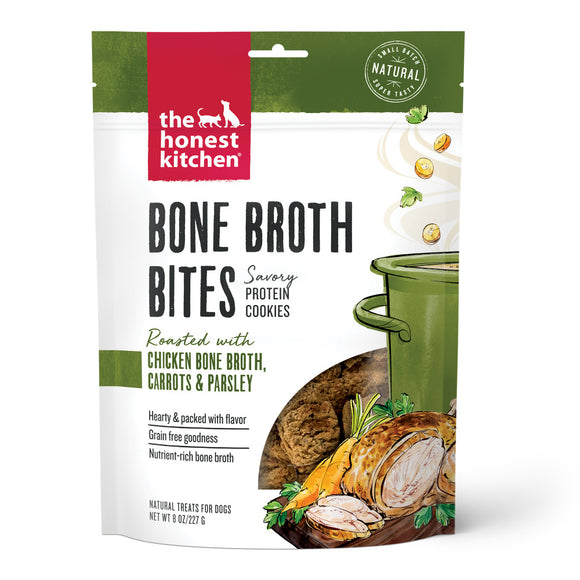 The Honest Kitchen Bone Broth Bites Roasted with Chicken Bone Broth & Carrots Dog Treats