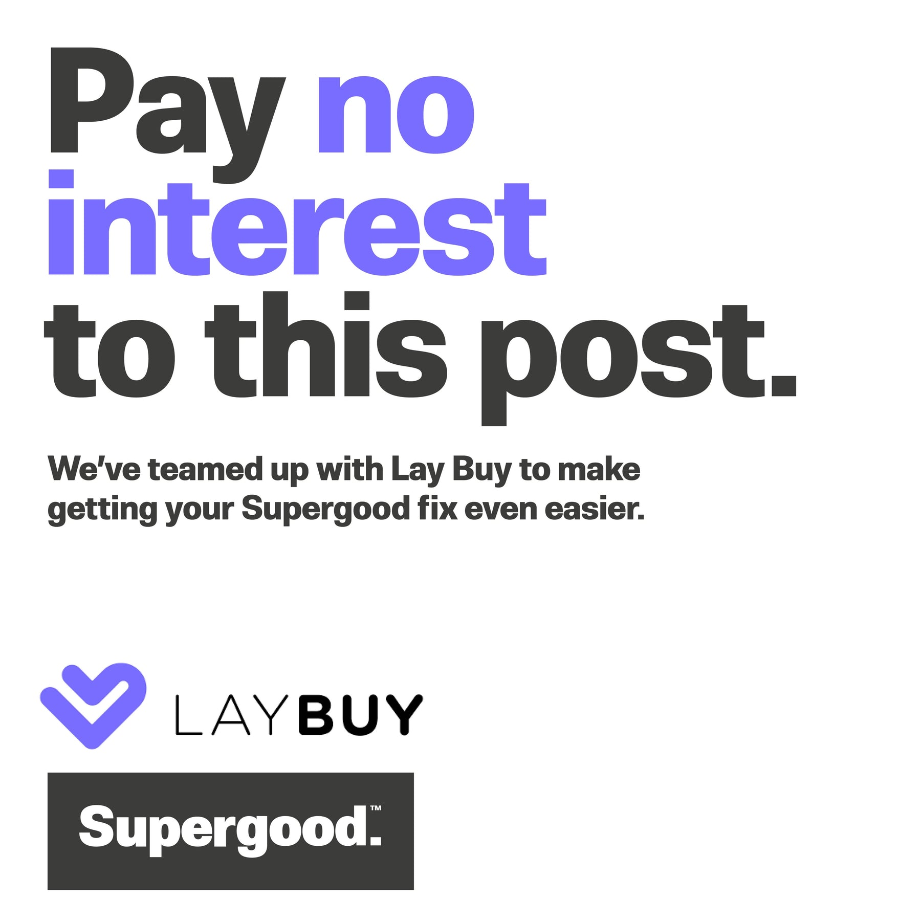 Lay Down? Lay Off? LAY BUY!