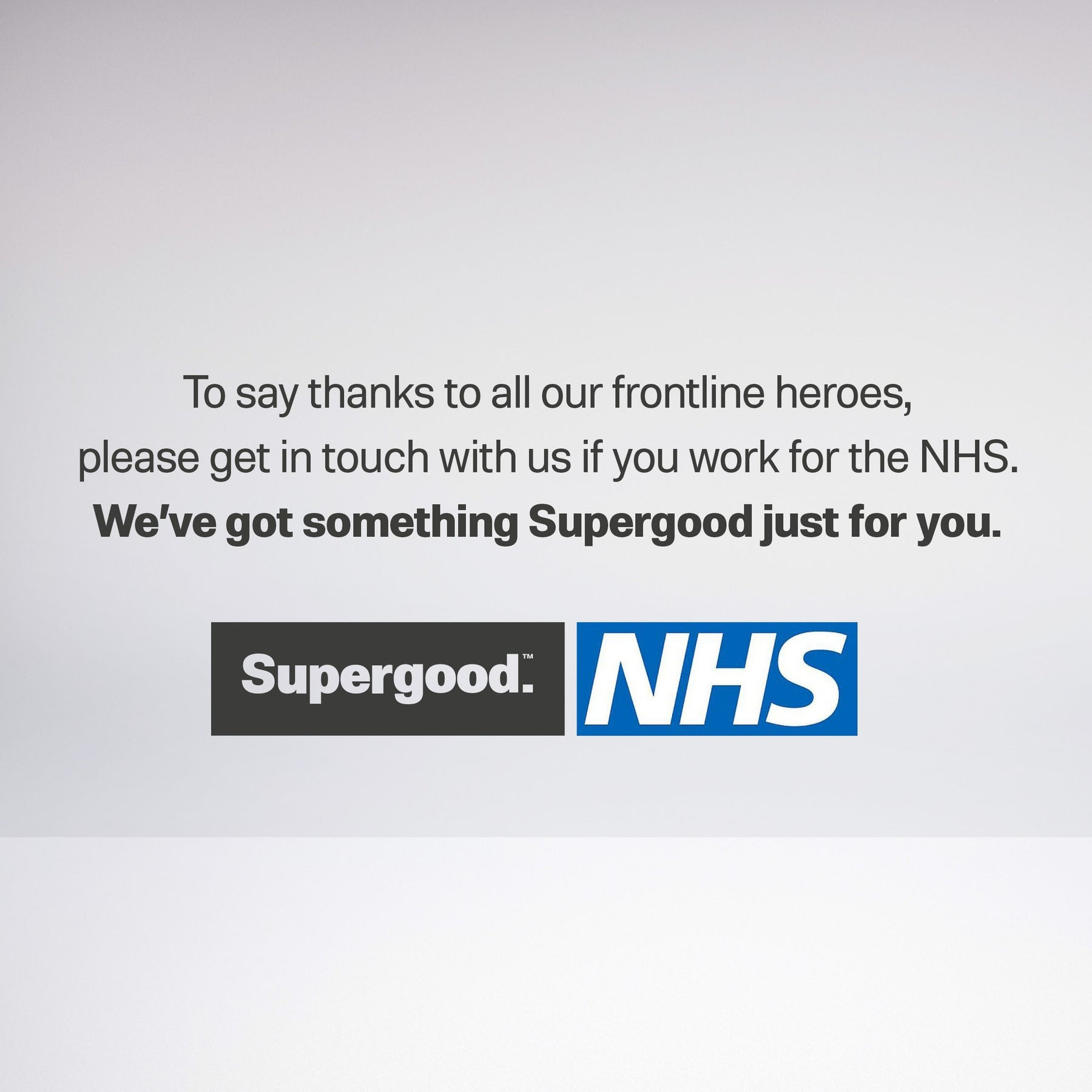 News-NHS Staff Announcement | We Are Supergood.