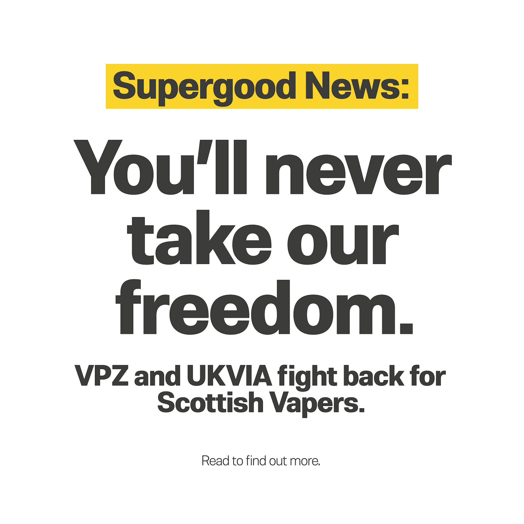 VPZ and UKVIA fight back for Scotland Vapers.
