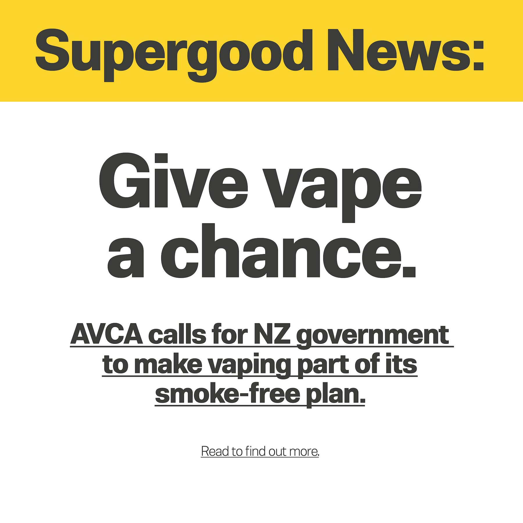 Give vape a chance.