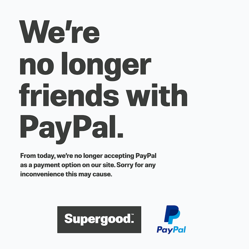 Supergood X PayPal Update.
