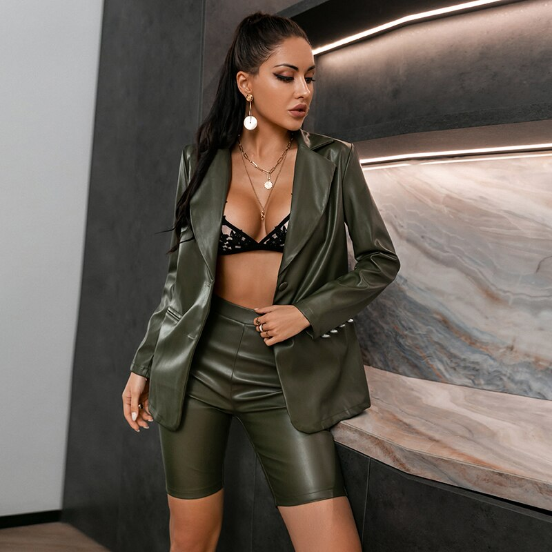 Dark Green Two Piece Suit