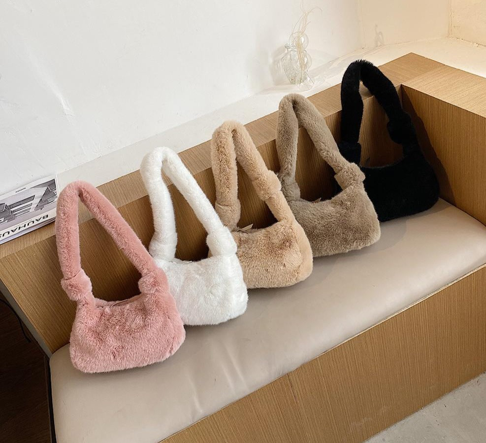 Plush Fluffy Totes Handbag