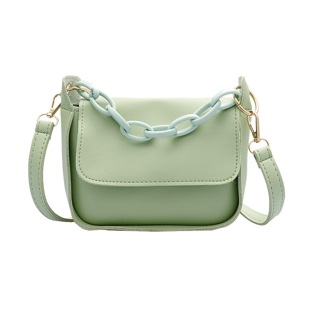 Chain Decor Crossbody Bag