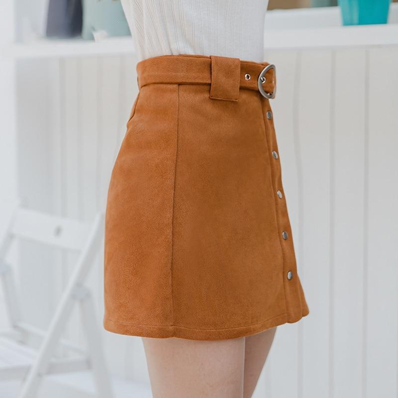 Casual Suede Mini Skirt - VioletMosh