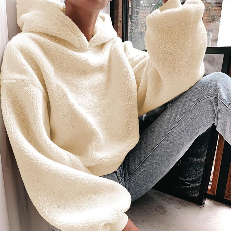 Oversized Drop-shoulder Hooded Sweatshirt - VioletMosh