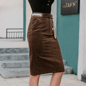 Vintage Corduroy Pencil Skirt - VioletMosh