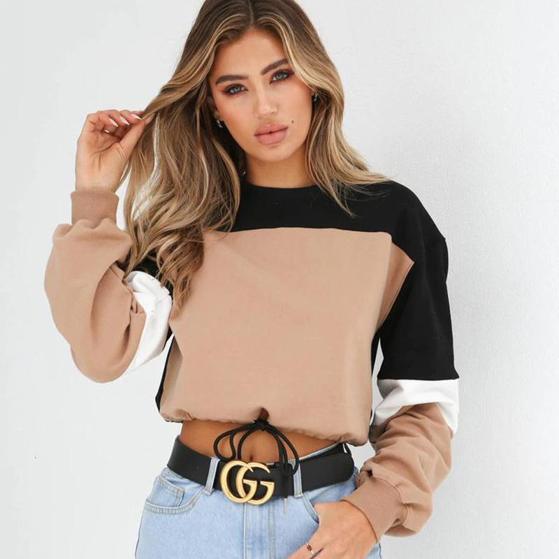 Patchwork cropped sweatshirt - VioletMosh