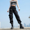 High Waist Black Cargo Pants