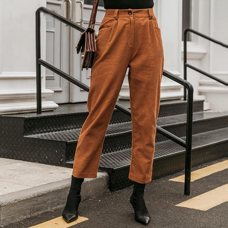 Casual Corduroy Pants - VioletMosh