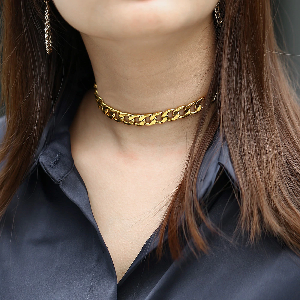Adjustable Gold Filled Stainless Steel Choker