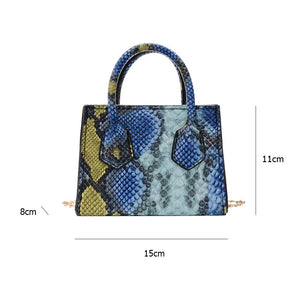 Snake Print Chain Small Retro Mini Bag