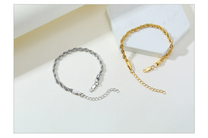 Twisted Rope Chain Bracelets