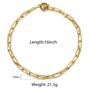 Unique Gold Color Stainless Steel Cable Chain