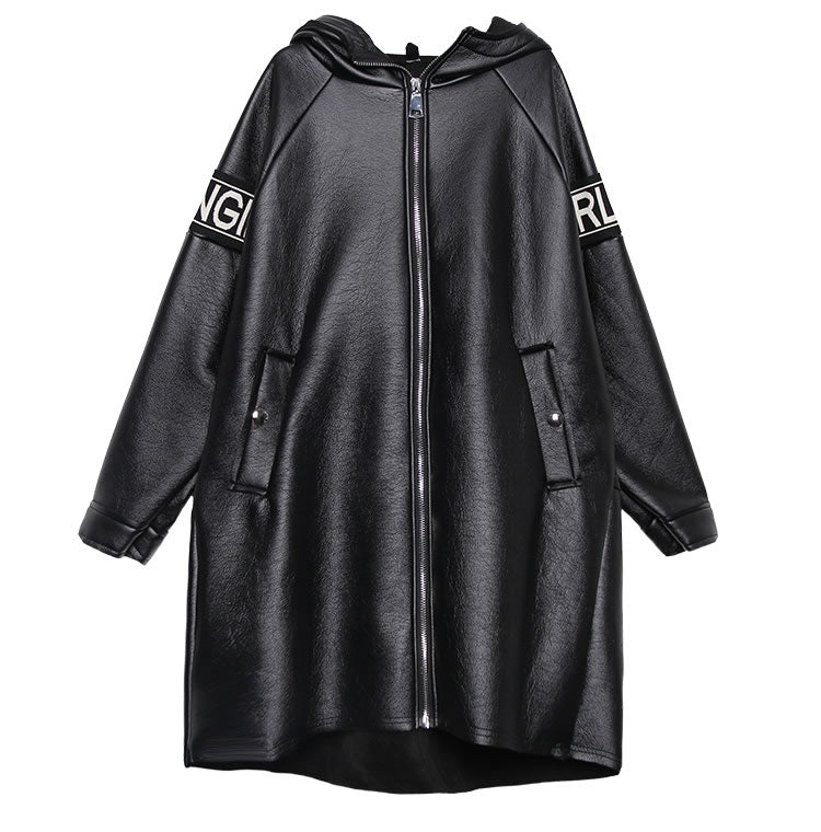 Oversized Faux Collar Loose Coat
