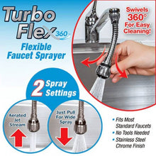 Load image into Gallery viewer, Flexible Faucet Sprayer Turbo Flex 360 Sink Faucet Jet Sprayer For Bathroom & Kitchen - Pack Of 1