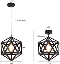 Load image into Gallery viewer, Diamond Ceiling Hanging Light for Home 2 Pcs (Bulbs Not Included)