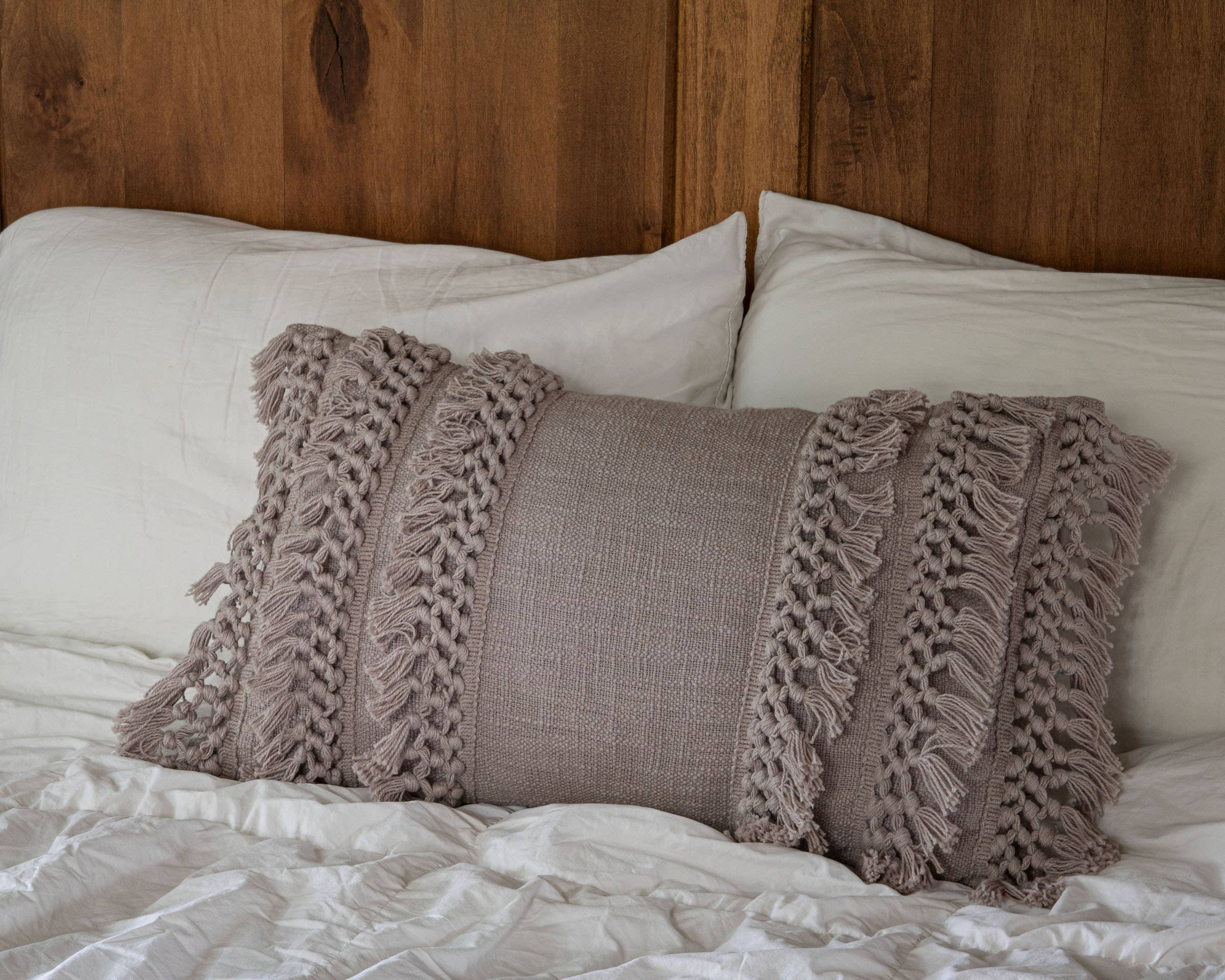 Hand Woven Grace Pillow Gray
