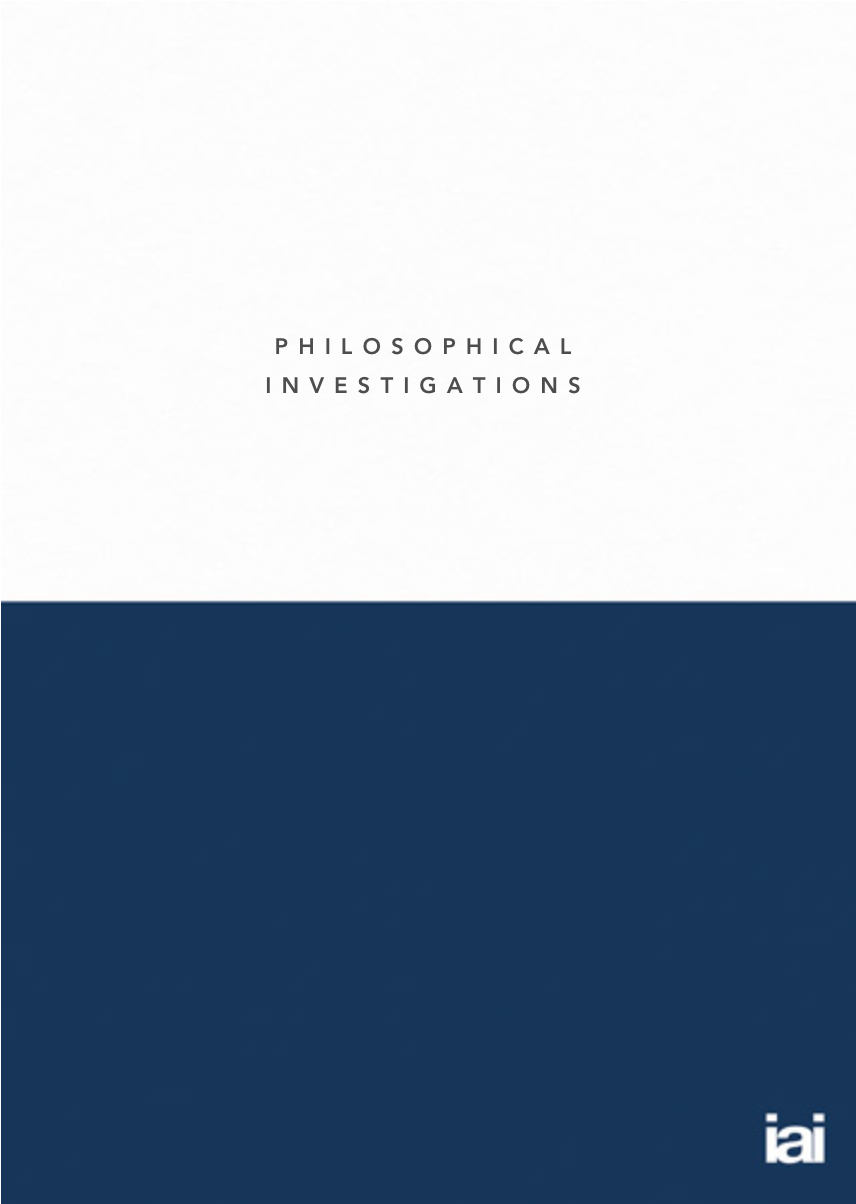 Philosophical Investigations Notebook