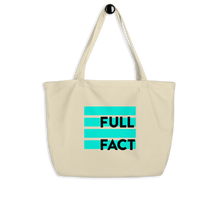 Load image into Gallery viewer, Full Fact large tote bag