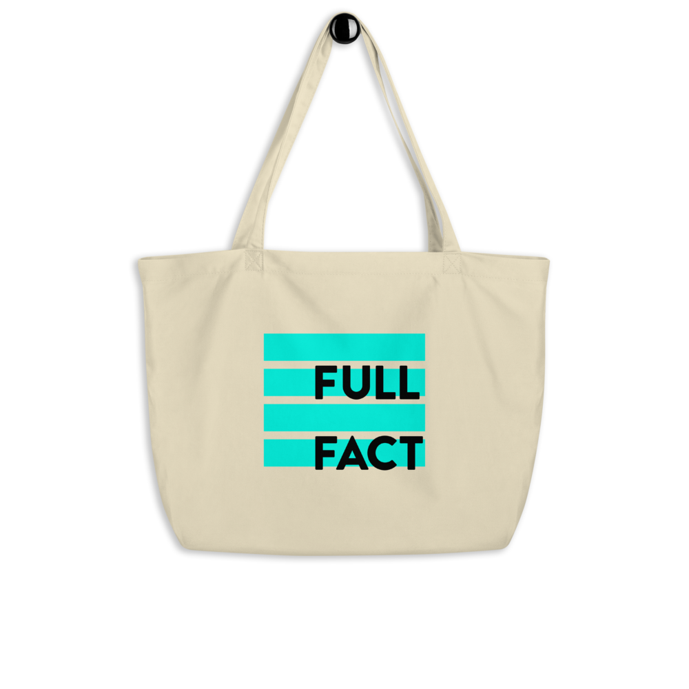 Full Fact large tote bag