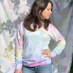 Load image into Gallery viewer, Rainbow Ombre Raglan Pullover