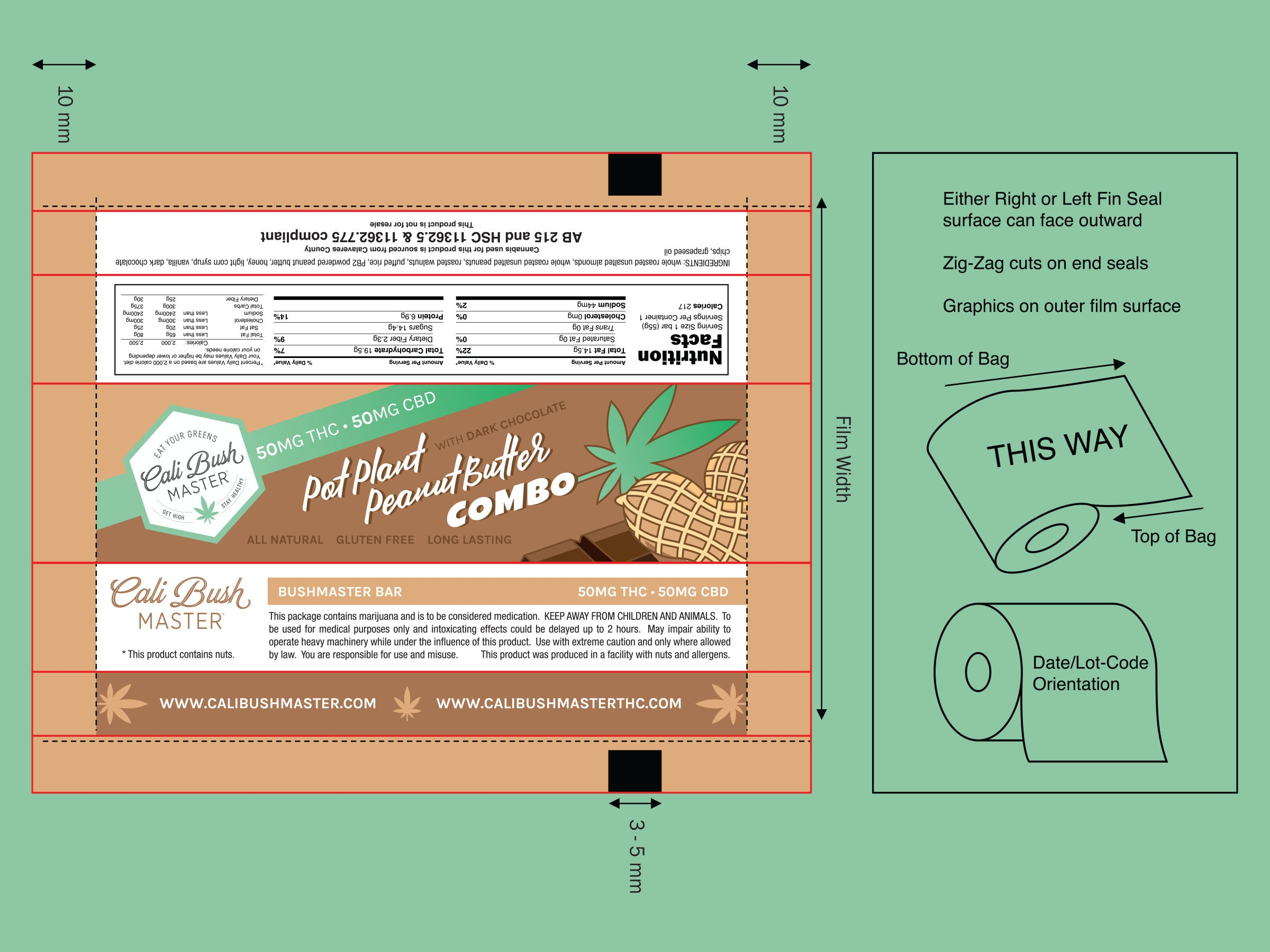 Cali Bush Master bar packaging