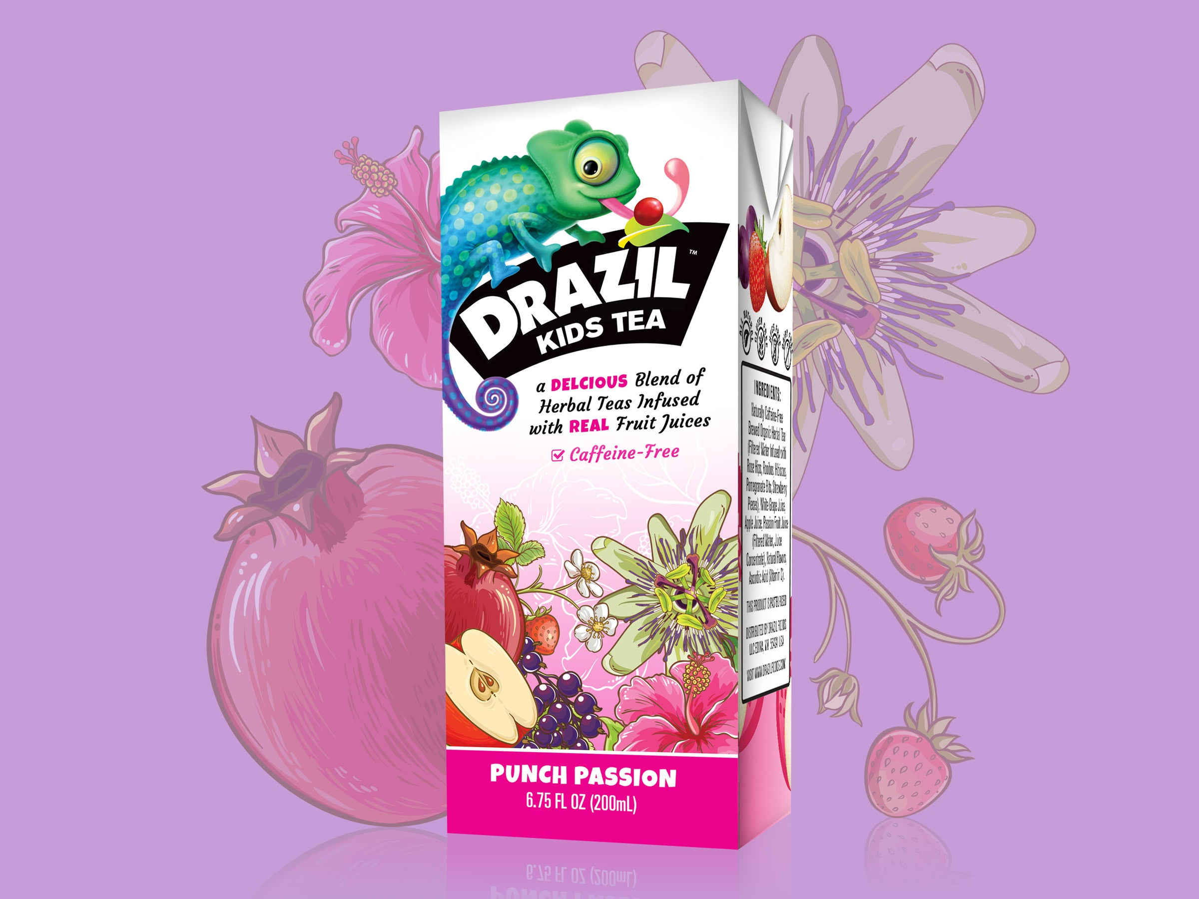 Drazil Kids Tea packaging