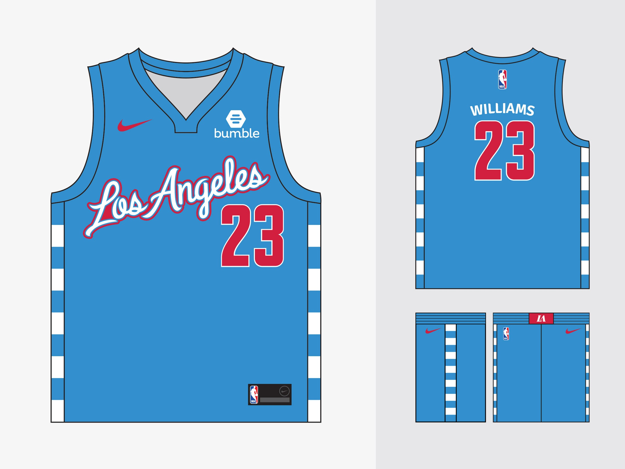 Los Angeles Clippers jersey rebrand