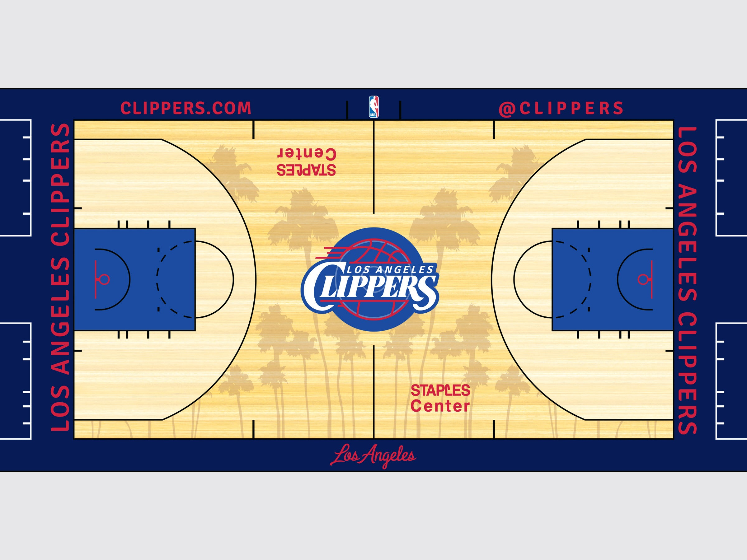 Los Angeles Clippers court rebrand