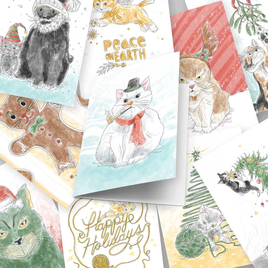 Holiday Christmas Cards - 10 Pack