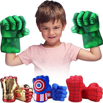 Marvel Spider-Man Hulk Plush Gloves Toys