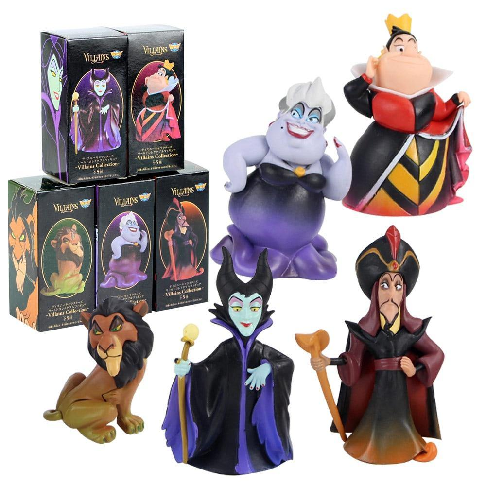 Ensemble 5 Figurines Vilains Disney