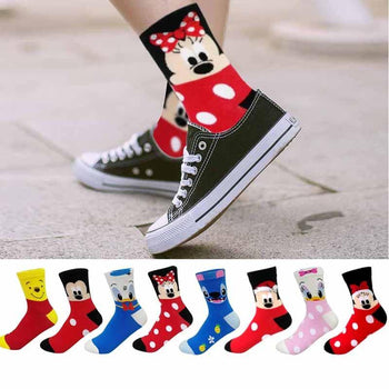 Paires de chaussettes Fashion Disney Cartoon