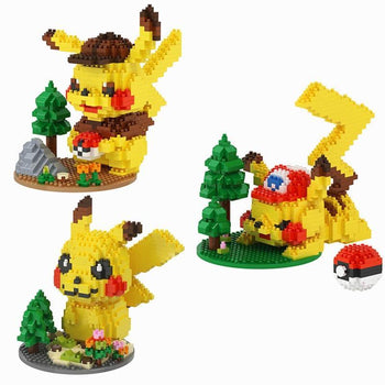 Jeu de construction Figurine Pokémon Pikachu - Enjouet