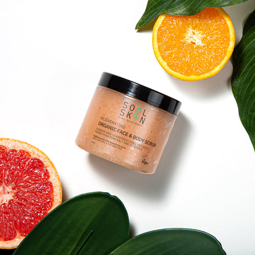 Rejuvenating Organic Face & Body Scrub