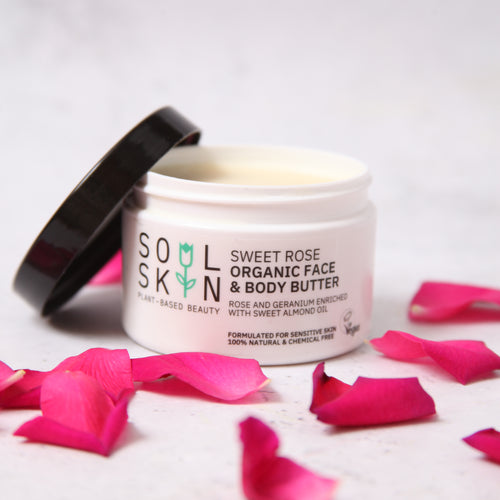 Sweet Rose Organic Face & Body Butter