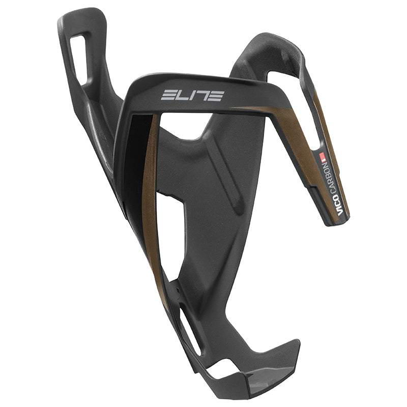 Elite Vico Carbon Bottle Cage Matte Black w/Matte Bronze Graphic - Enroute.cc