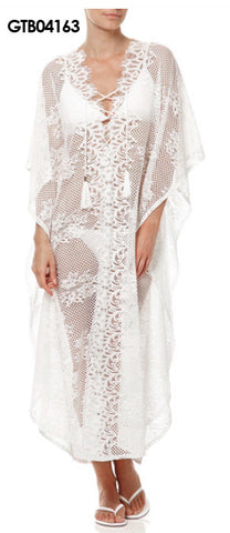 Long lace kaftan