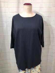 Basic Long Sleeved Tunic - Navy Blue