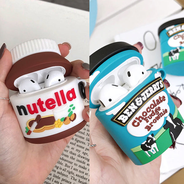 Nutella + Ben & Jerry's Set  - AirPods Case Sleeves [1/2 Gen]