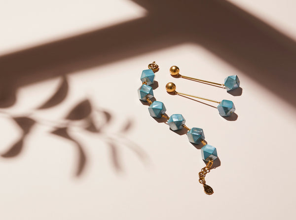 STILL LIFE | MoonRox FW20 - Azzurra Bracelet and Stud Earrings