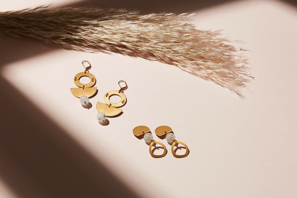 STILL LIFE | MoonRox FW20 - Berg Earrings and Archipelago Stud Earrings