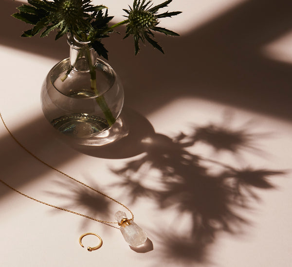 STILL LIFE | MoonRox FW20 - Evolve Ring and Aroma Necklace in crystal quartz