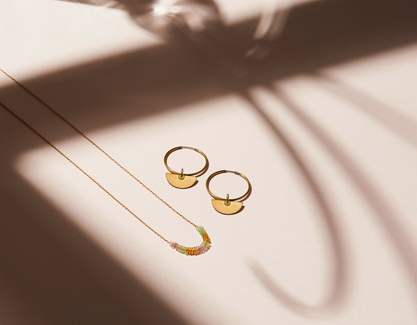 STILL LIFE | MoonRox FW20 - Inner Circle Necklace and Hoop Earrings