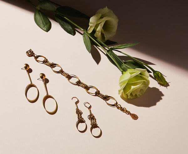 STILL LIFE | MoonRox FW20 - Muse Bracelet with Muse Earrings and Stud Earrings
