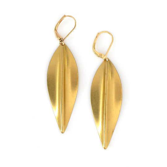 Valentine's Day gift ideas priced at $30 and under. Pod Earrings are brass charm earrings in elegant elongated shape.
