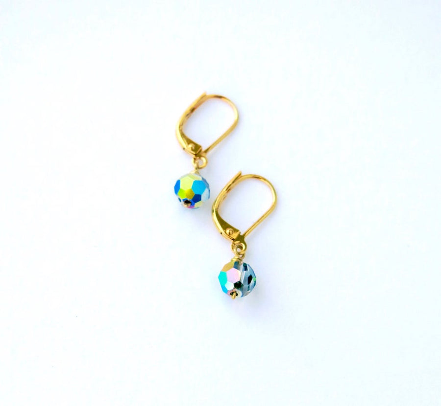 Auroral Earrings by MoonRox Jewellery & Accessories - sparkling Swarovski crystal drop earrings made in Toronto, Canada